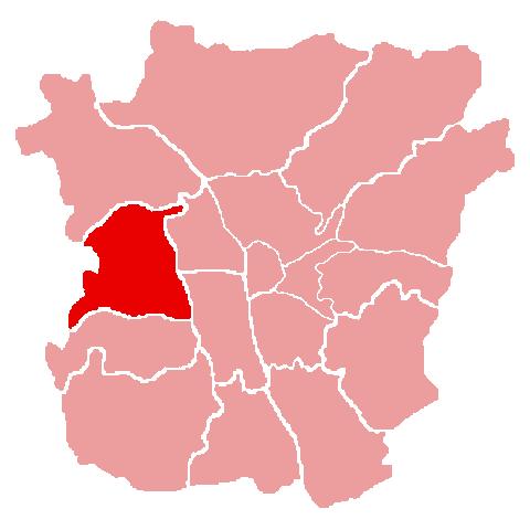 Lage des Bezirks Eggenberg