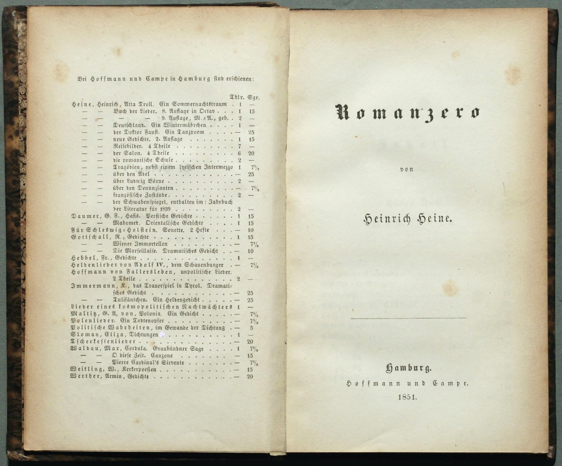 2019 Neupreis Weltweit Versandkostenfrei beliebt kaufen File:Heine Romanzero 1851.jpg - Wikimedia Commons