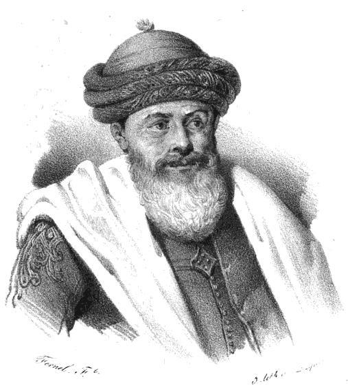 Depiction of Hussein Dey