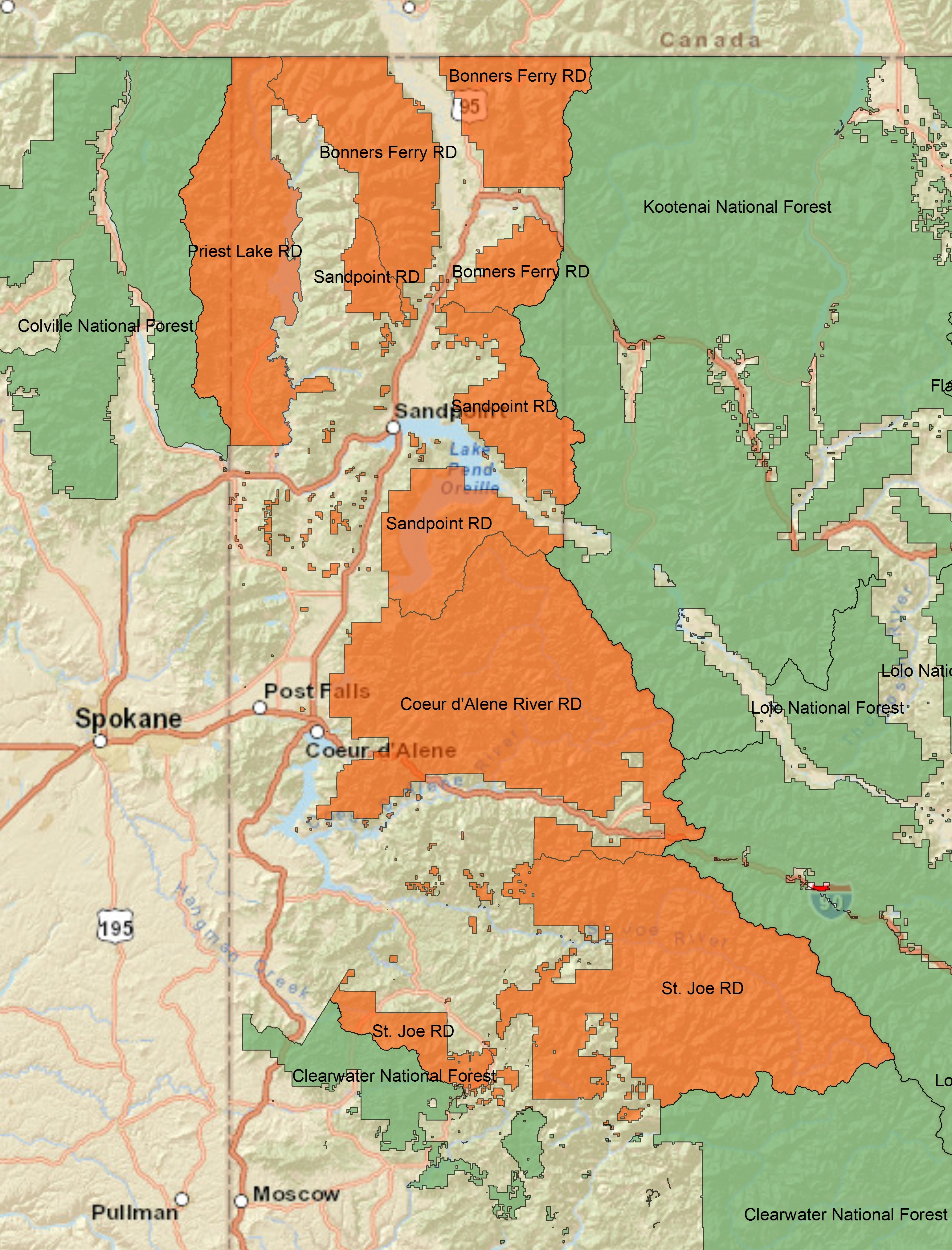 FileIdaho Panhandle NF Mapjpg  Wikimedia Commons