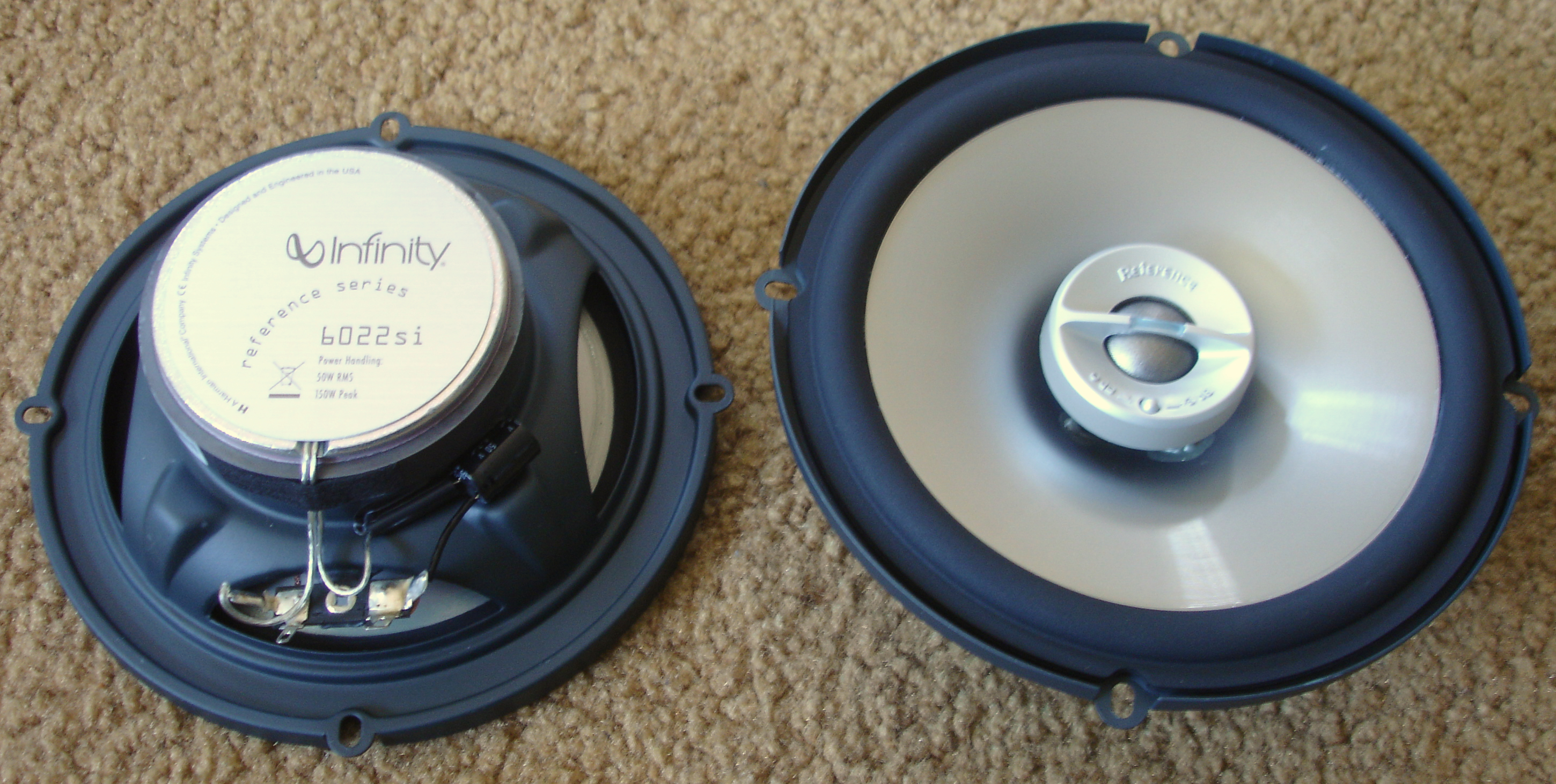 infinity car speakers. file:infinity reference 6022si 6.5inch car speaker top view.jpeg infinity speakers