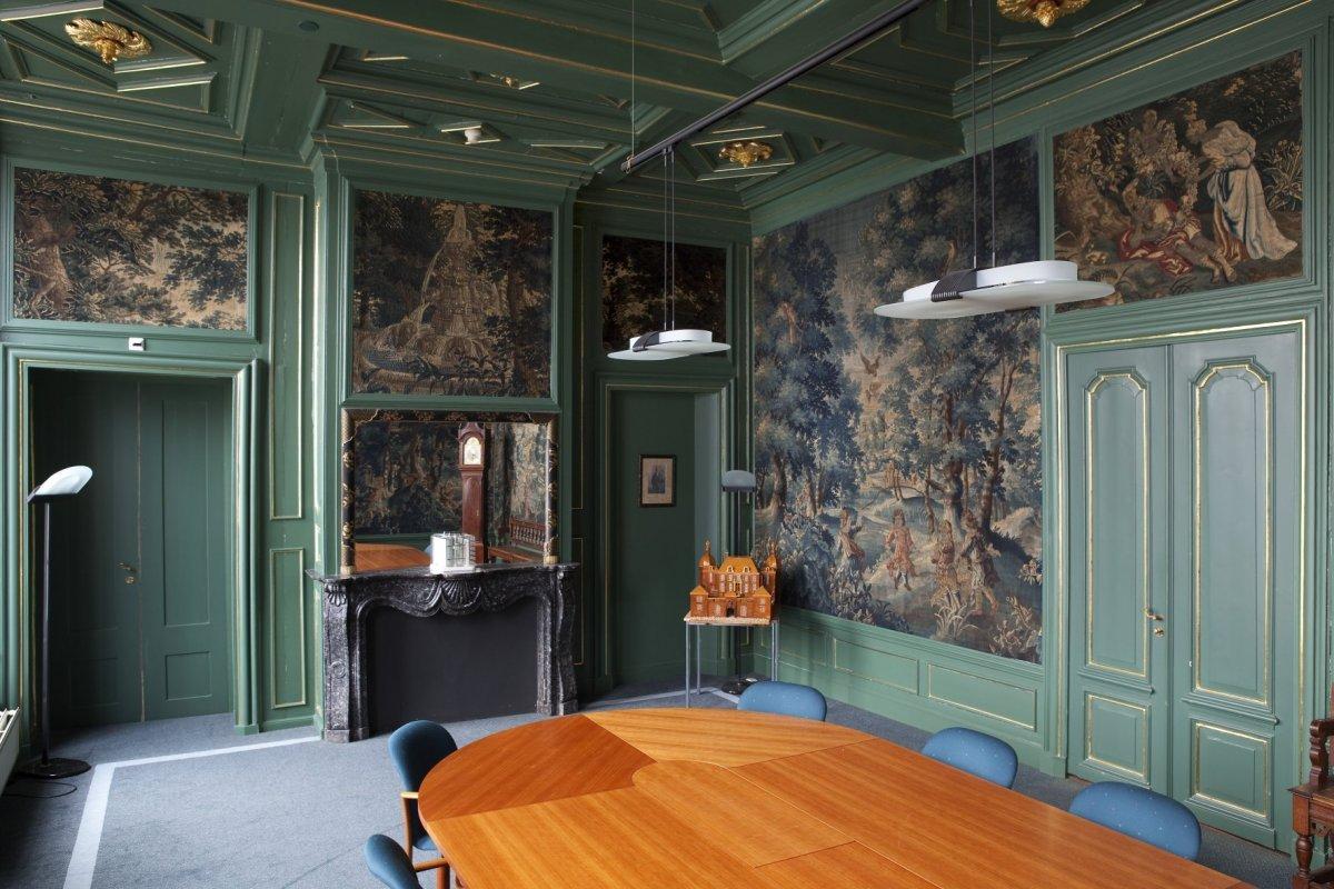File interieur overzicht van de blauwe kamer gezien richting de schouw oegstgeest 20427563 - Blauwe kamer ...