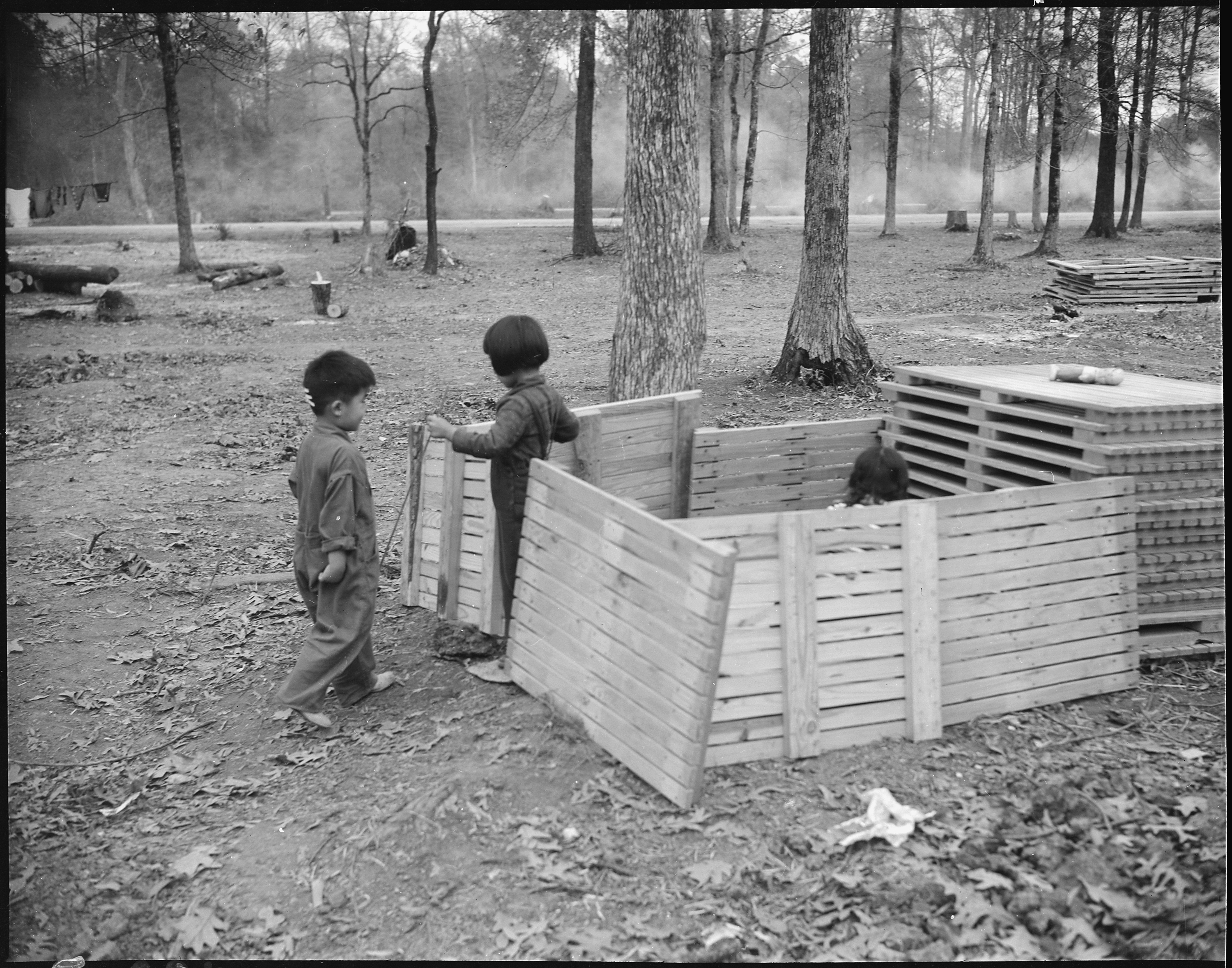 File:Jerome Relocation Center, Denson, Arkansas. Children playing ...