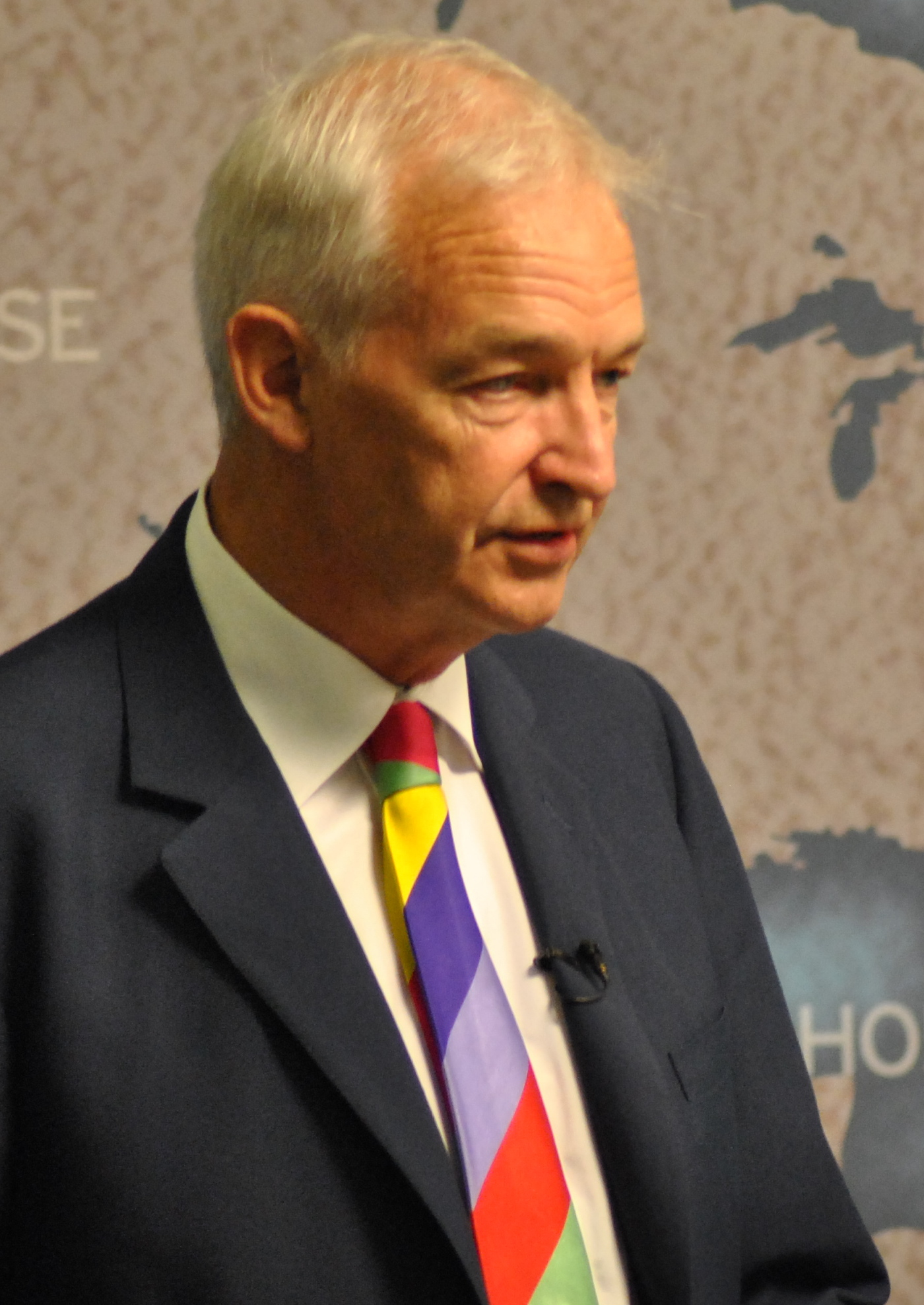 Snow speaking at [[Chatham House]] in 2011