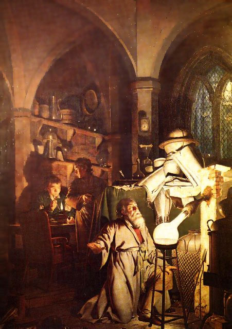The Alchemist in Search of the Philosophers Stone.