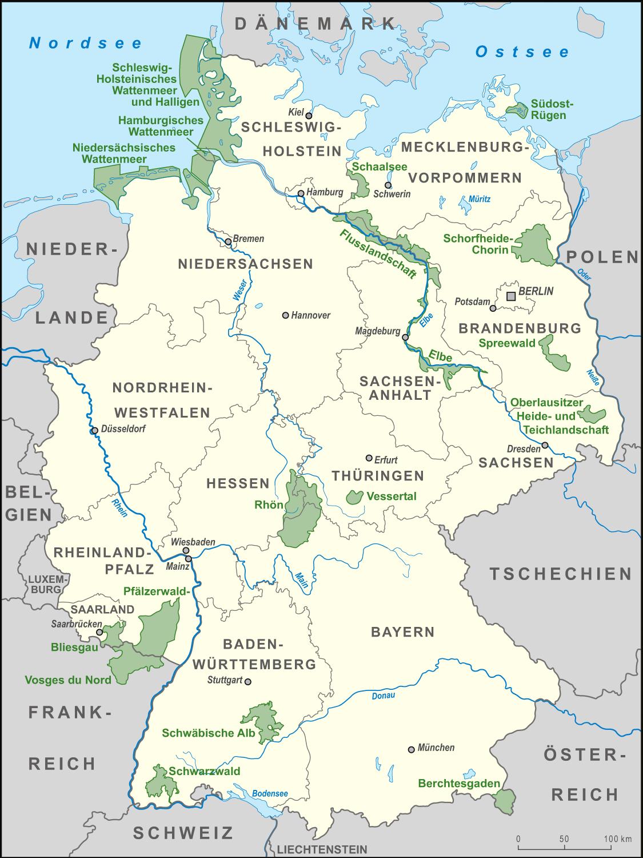File:Karte Biosphärenreservate Deutschland high.png - Wikimedia ... - Karte Deutschland Ostsee