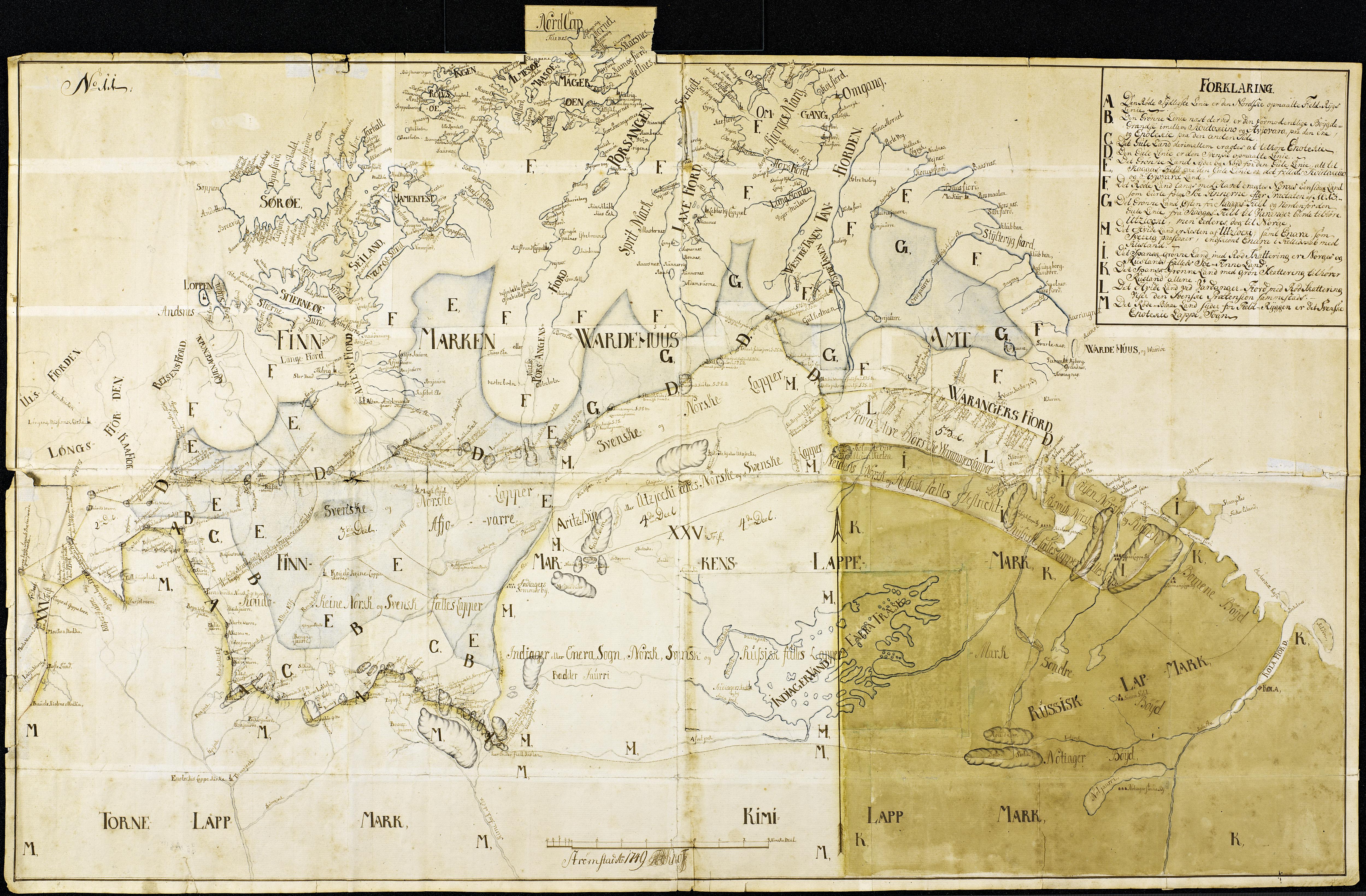 File Knoffs Kart Over Finnmark 1749 Jpg Wikimedia Commons