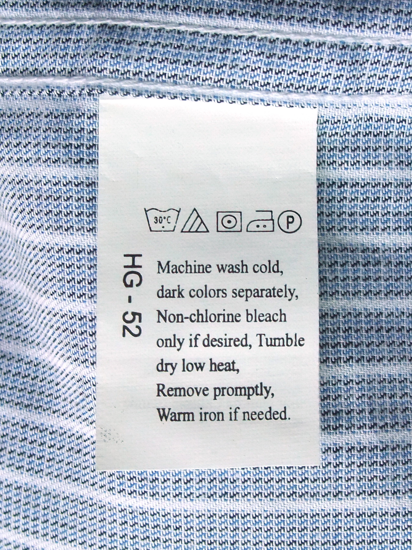 File Laundry Symbols On A Care Label Attached To A Shirt Jpg