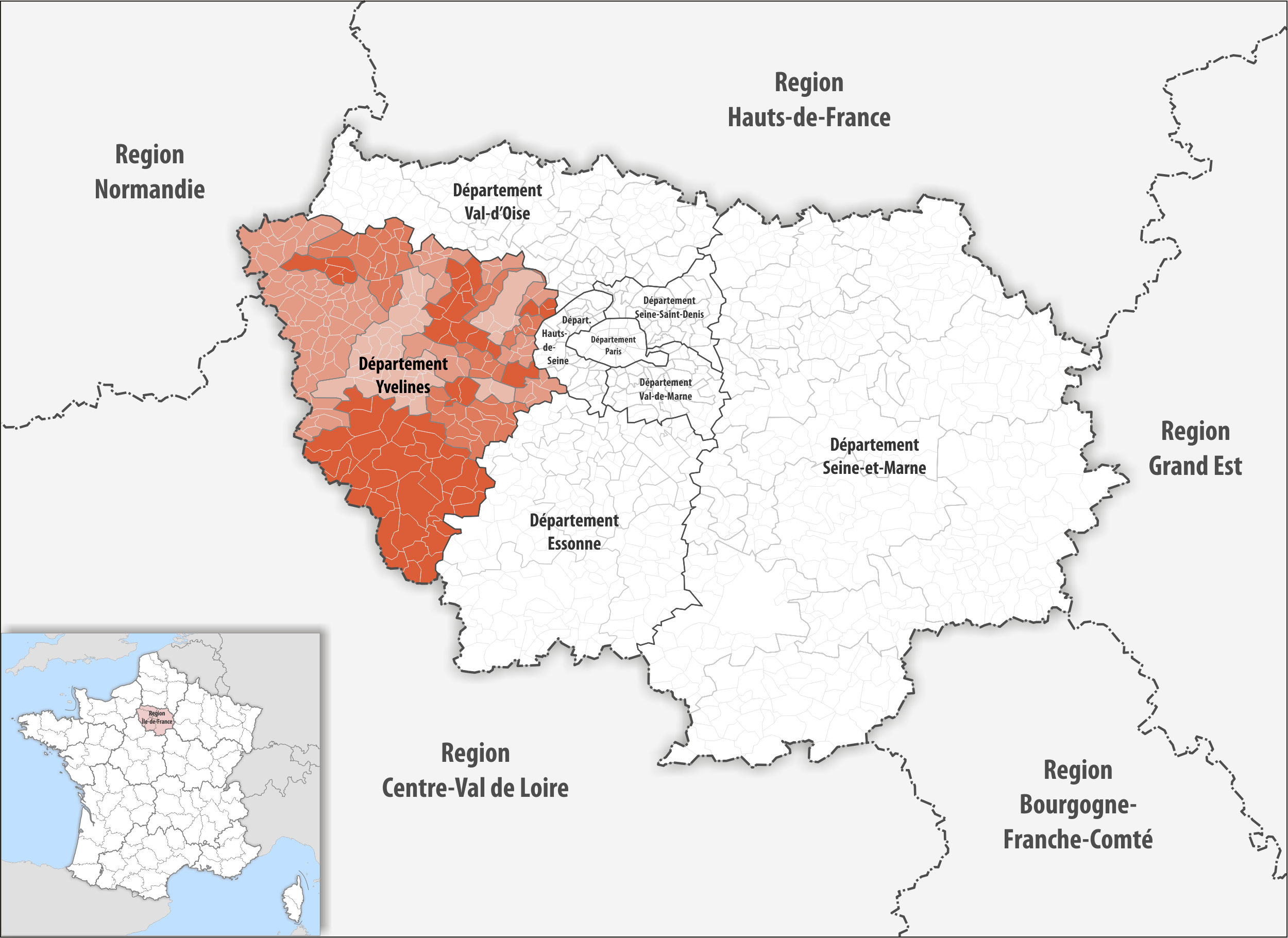 Map Of Yvelines France.File Locator Map Of Departement Yvelines 2018 Png Wikimedia Commons