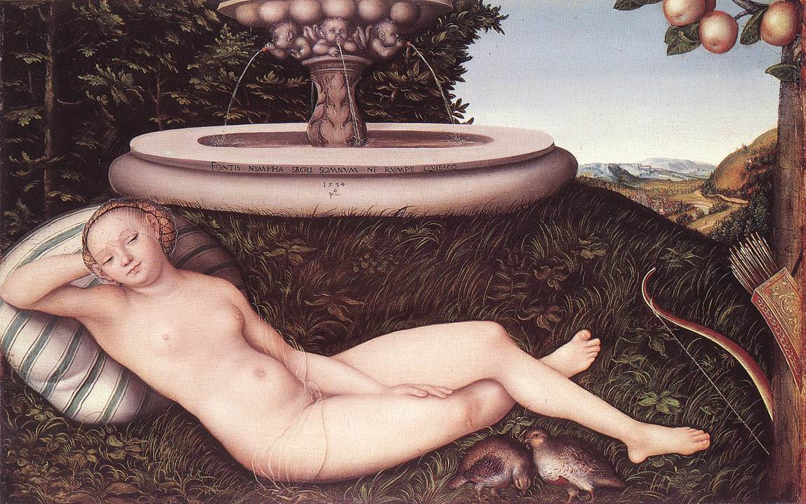 Lucas Cranach, The Nymph of the Fountain, 1534 ( Walker Art Gallery)