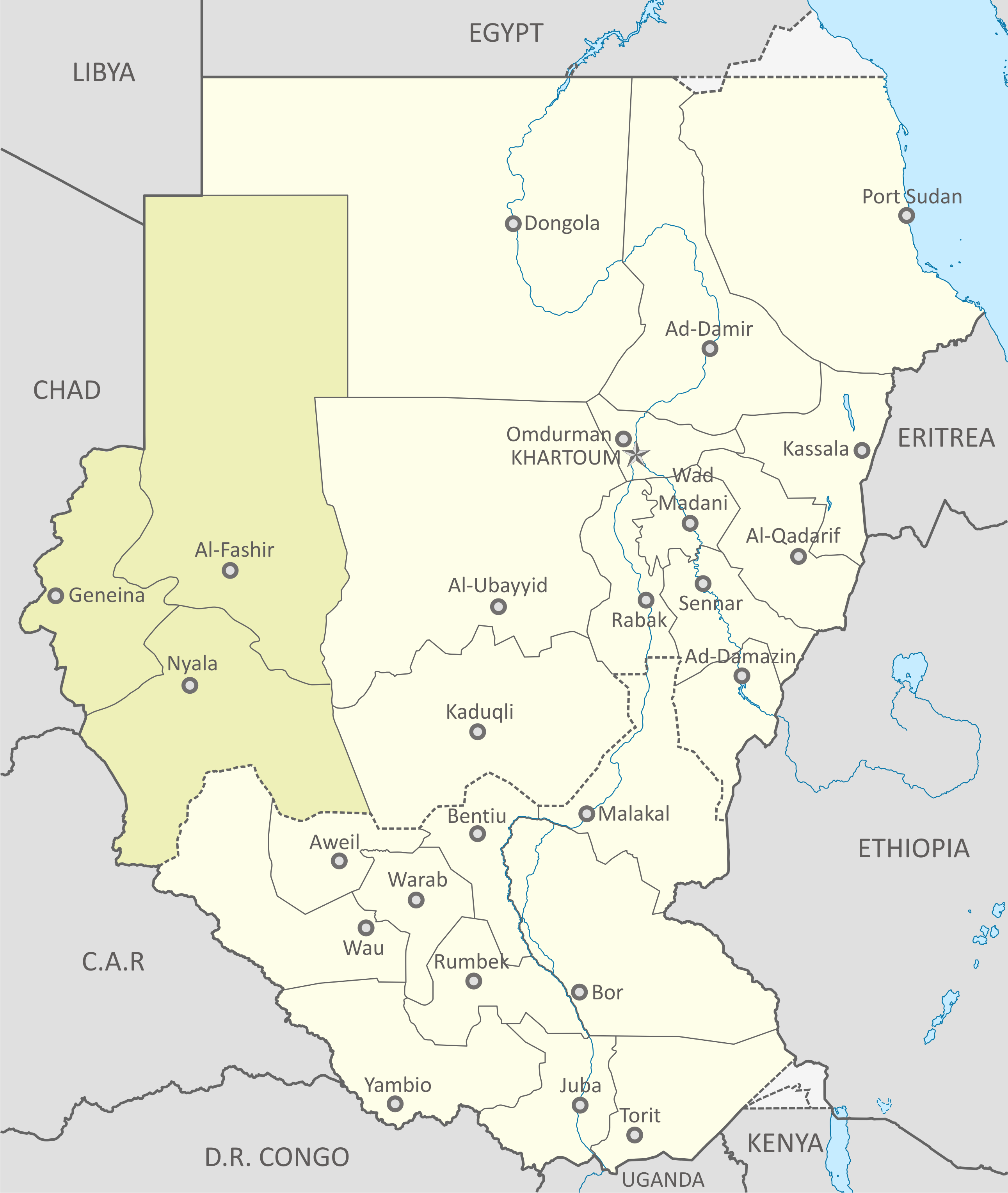 File:Map of Darfur-en.png - Wikimedia Commons on