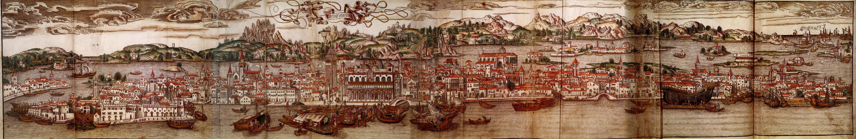 Civitas Veneciarum di Erhard Reuwich del 1486 da Gallica via Wikipedia