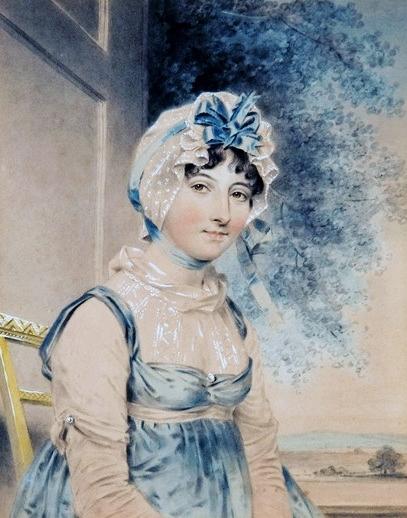 Maria edgeworth by john downman 1807