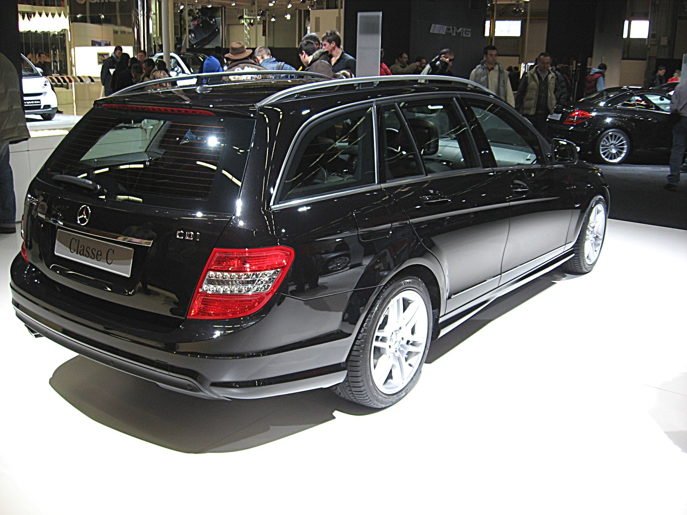file mercedes benz c class w204 sw rear view jpg. Black Bedroom Furniture Sets. Home Design Ideas