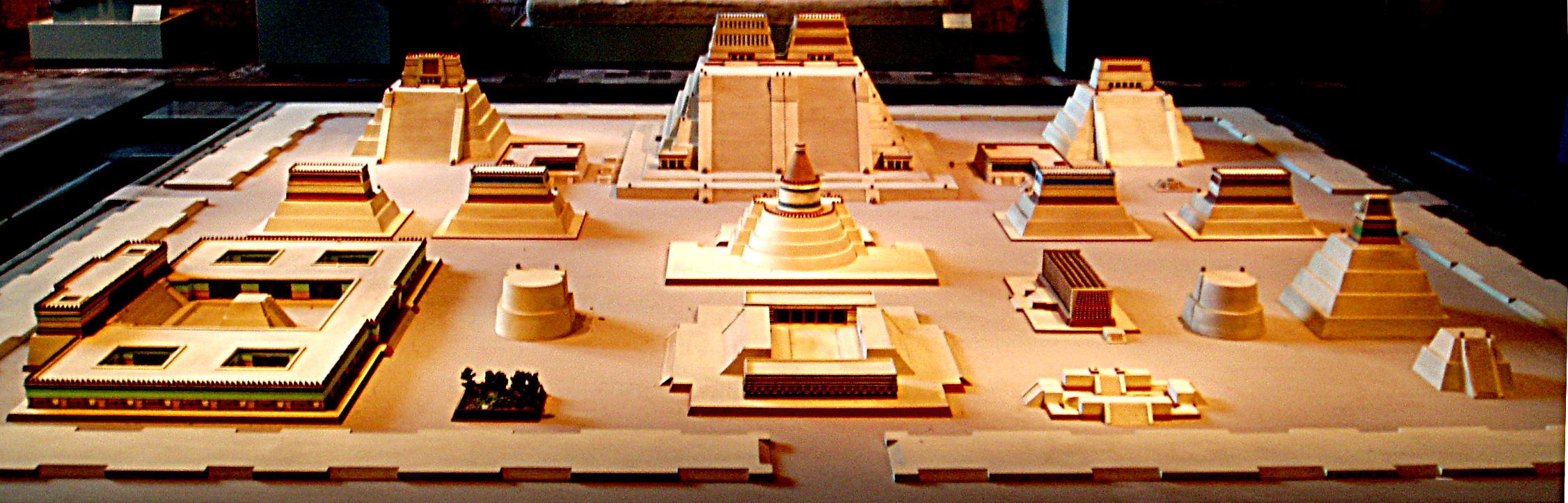Guerreros que realmente existieron  en la Civilización Azteca Model_of_Tenochtitlan