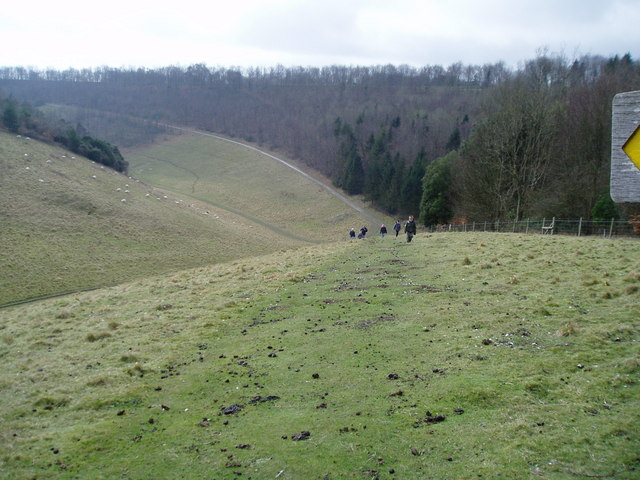 Monarch's Way in Arundel Park - geograph.org.uk - 1195703