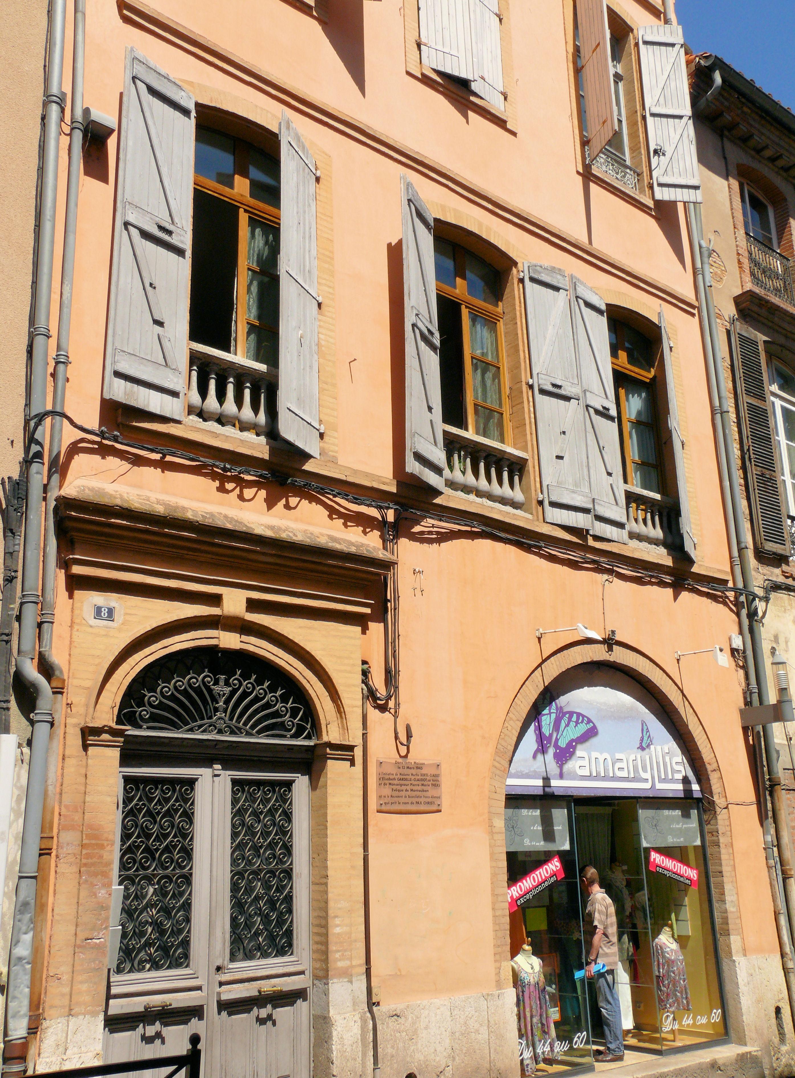 File Montauban Maison 8 Rue De La Comedie 01 Jpg Wikimedia Commons