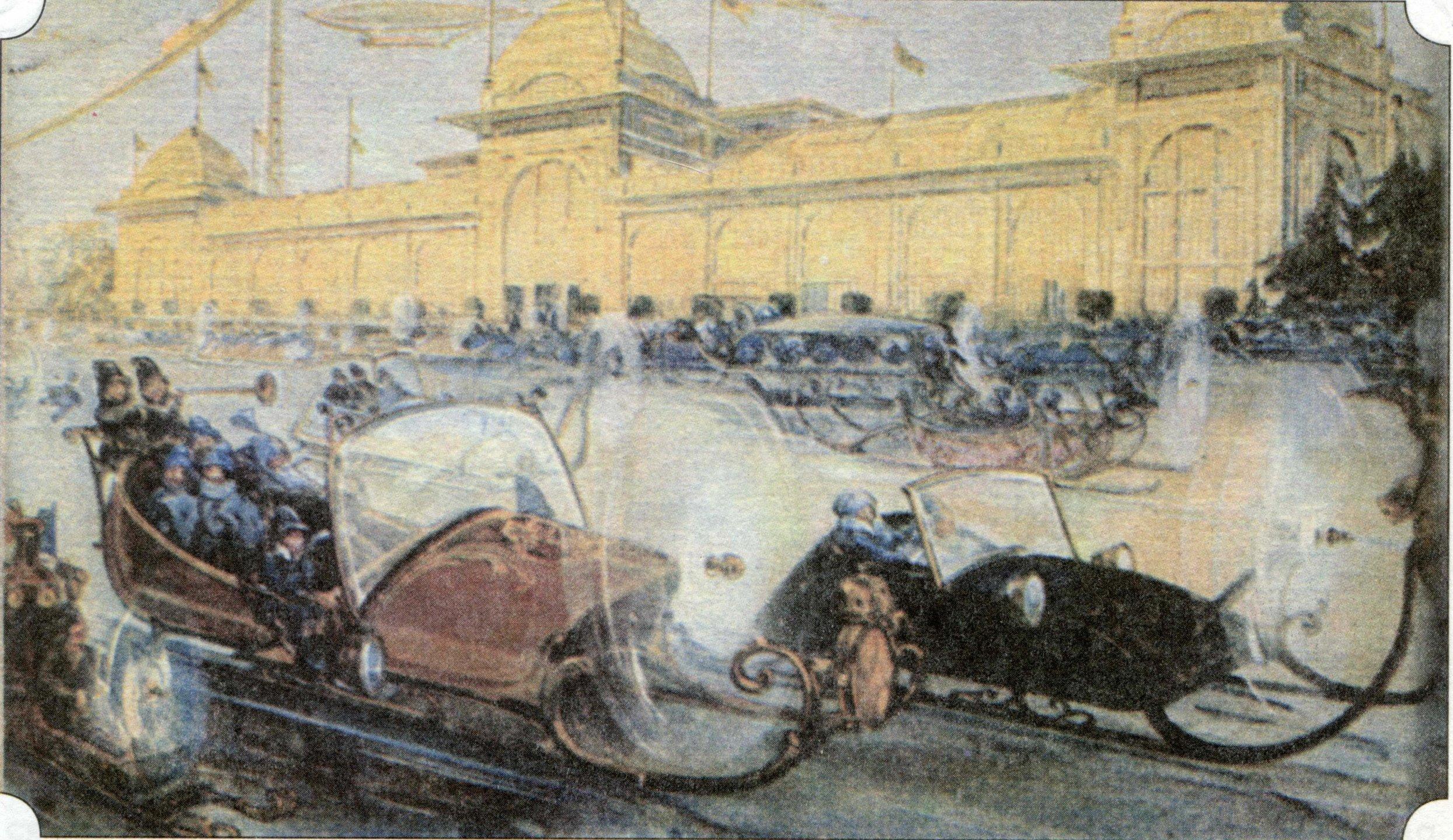 Файл: Москва в XXIII веке.  СПб Шоссе.  1914.jpg