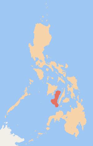 Lage von Negros innerhalb der Philippinen