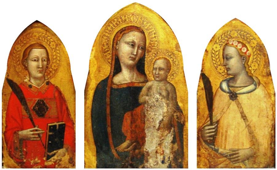 Fresque du 14e siècle de Francesco di Neri da Volterra au musée Czartoryski de Cracovie.