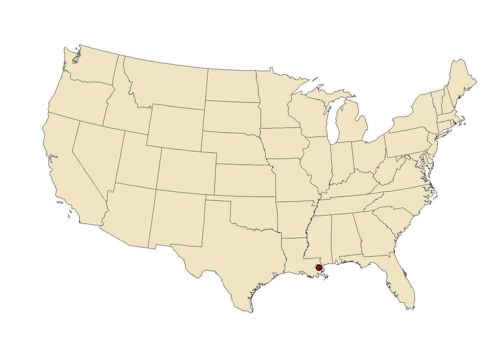 FileNeworleansmapjpg Wikimedia Commons - New orleans on a us map