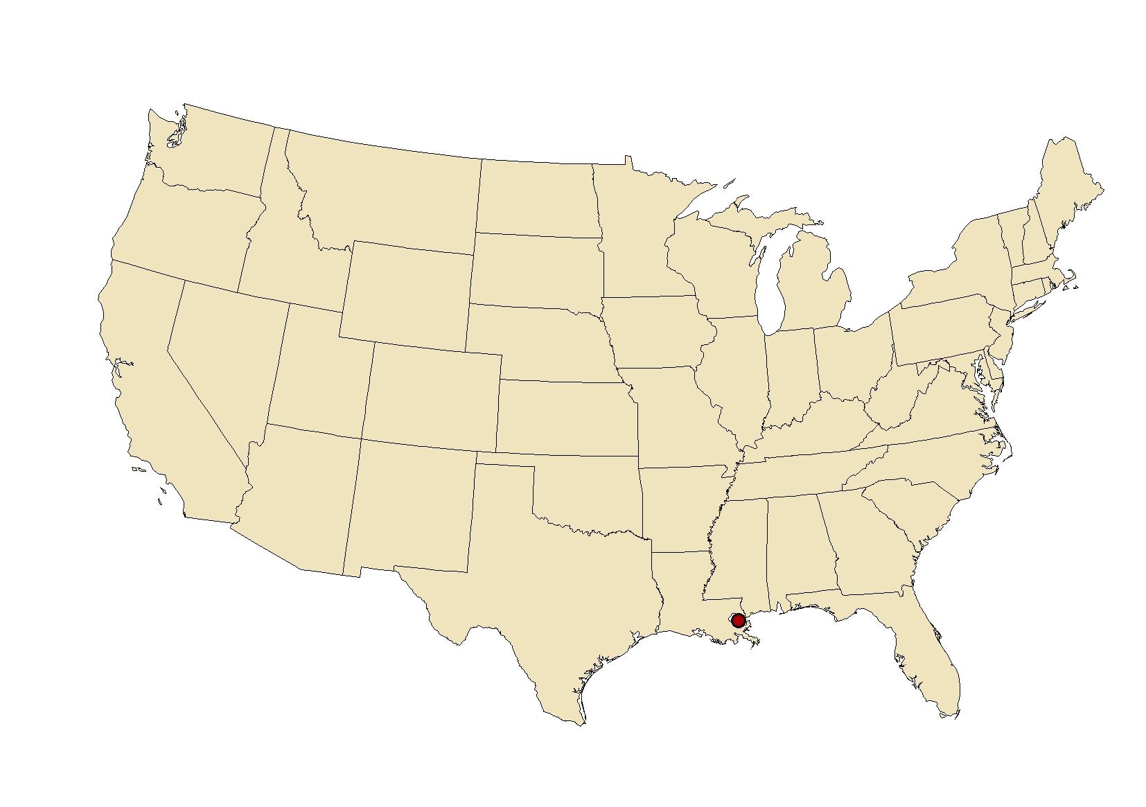 FileNeworleansmapjpg Wikimedia Commons - New orleans on the us map