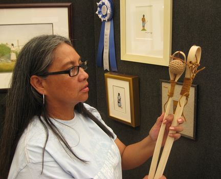 Award-winning painter Norma Howard is enrolled in the Choctaw Nation of Oklahoma. Norma howard choctaw.jpg