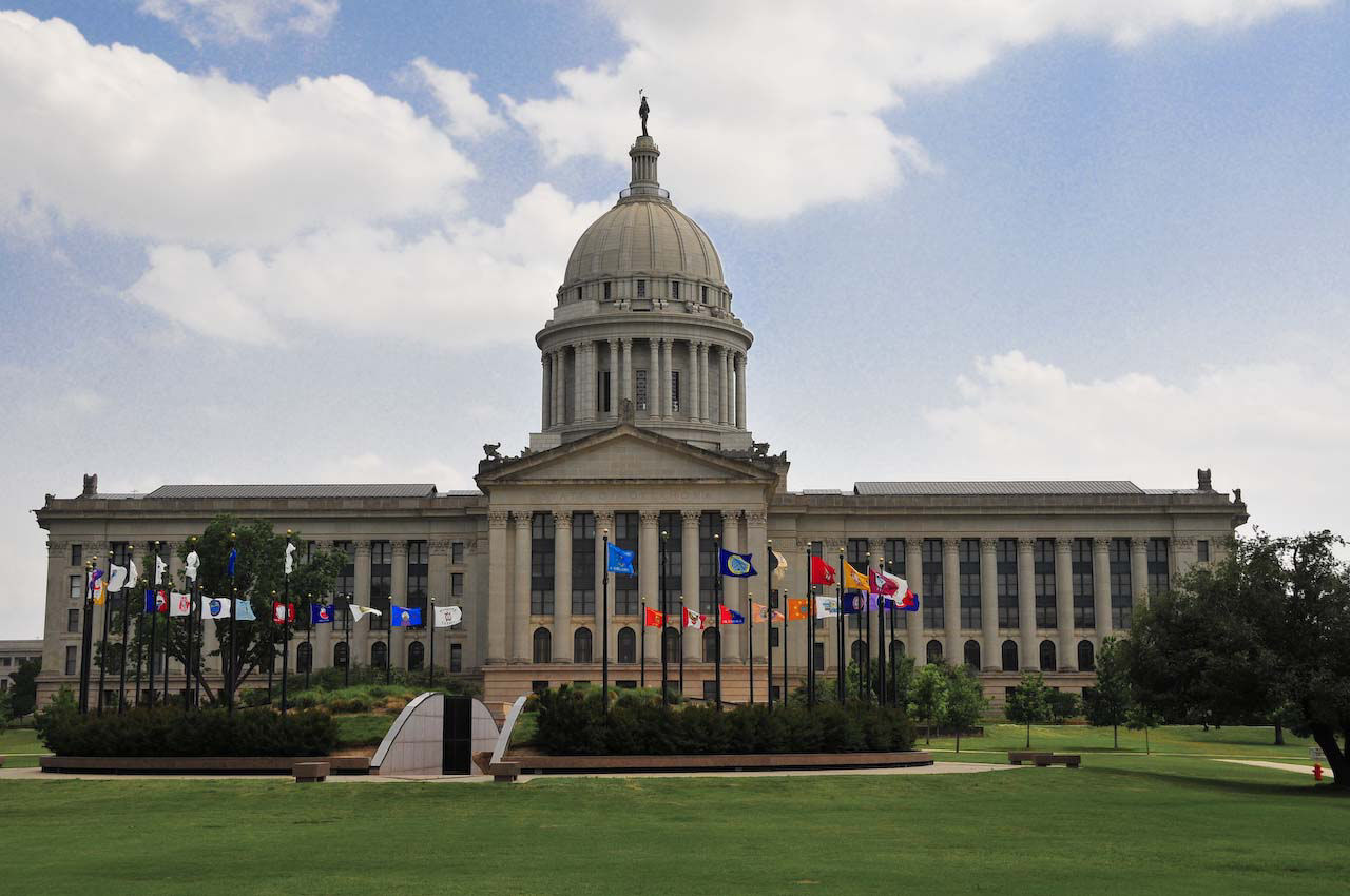 Oklahoma State Capitol Building Oil Well