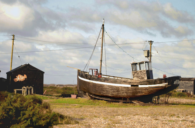 File old fishing boat at dungeness for What to do with an old boat