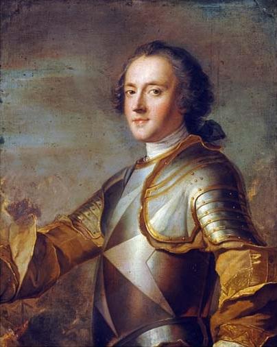 Le chevalier d'Orléans. Portrait par Jean-Marc Nattier.