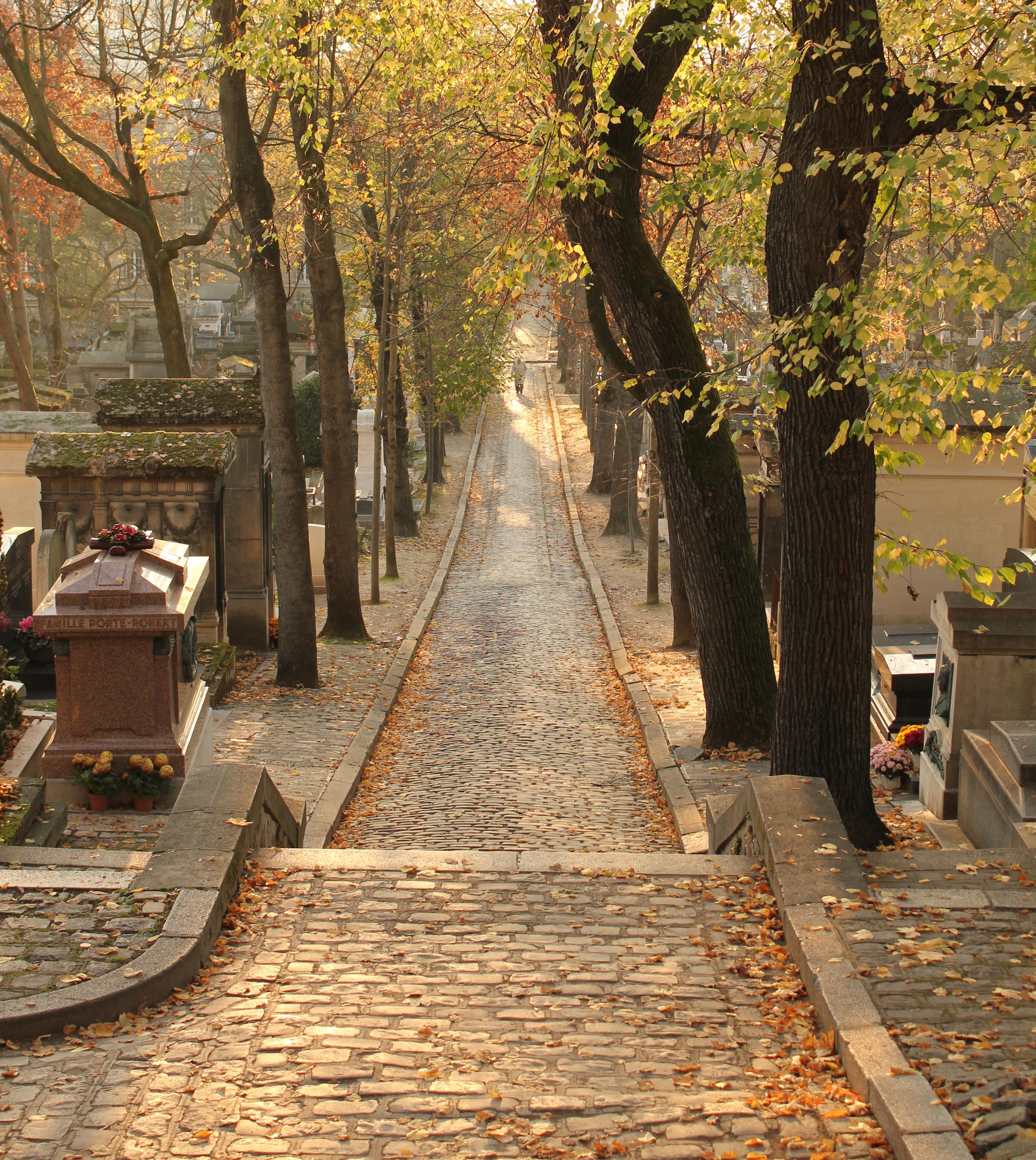 File p re lachaise avenue lat rale du nord - Chaise jardin du luxembourg ...