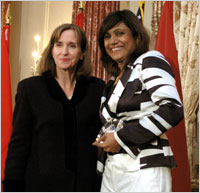 Paula Dobriansky, Under Secretary of State for Democracy and Global Affairs with Mariya Ahmed Didi of the Maldives March 7 2007 in Washington.jpg