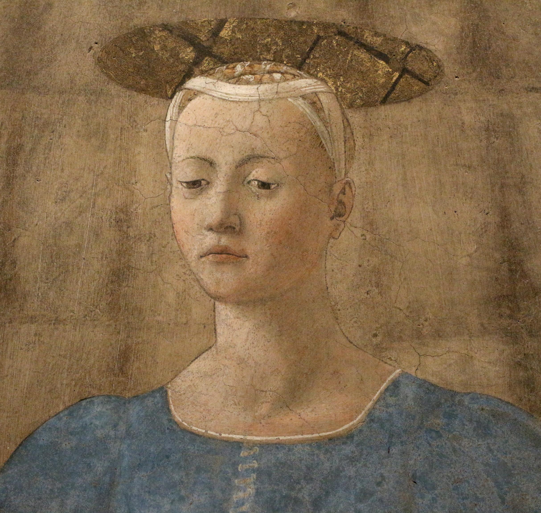Piero della francesca, Madonna del Parto, 1455 ca. 10.JPG