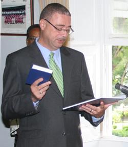 Prime Minister David Thompson of Barbados