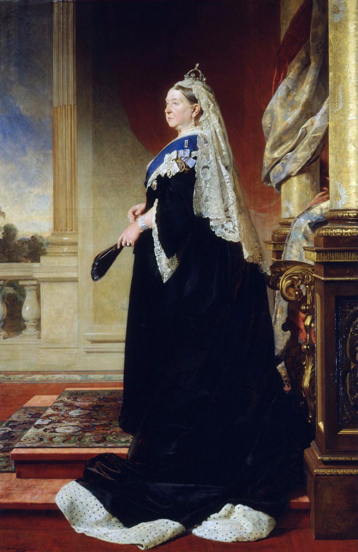 Portrait of Queen Victoria as widow Heinrich von Angeli