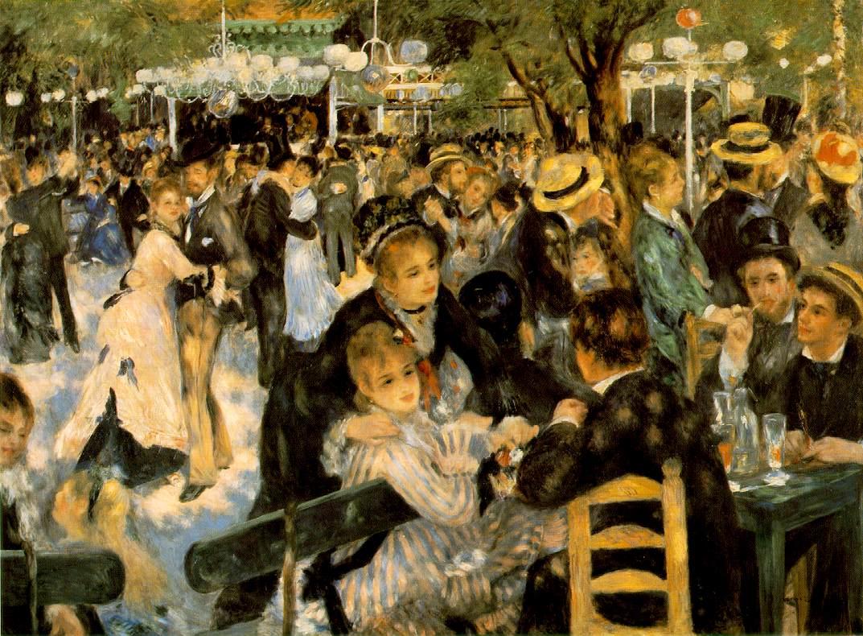 """Pierre-Auguste Renoir """"Bal Au Moulin De La Galette"""" (1876)"""
