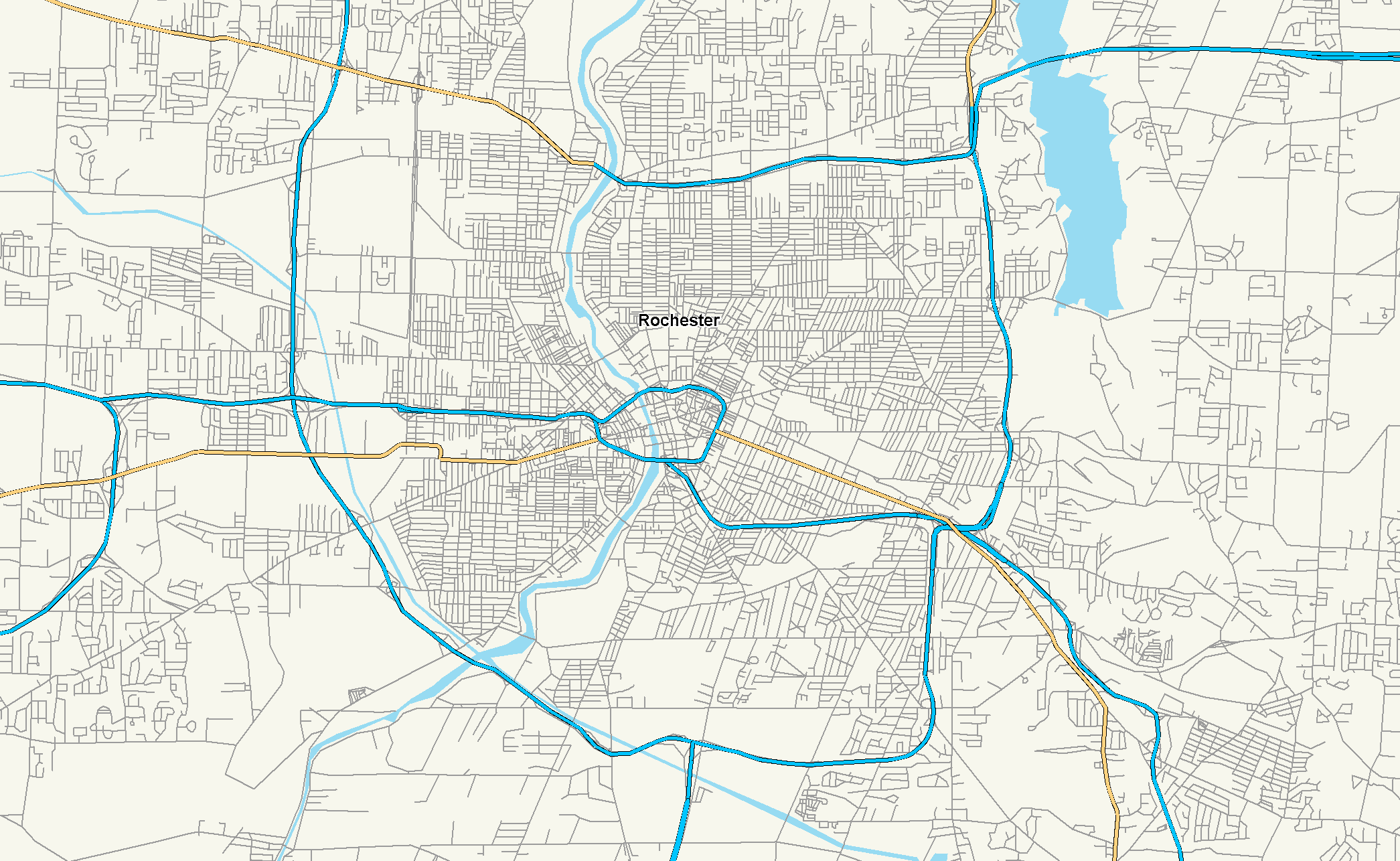 Rochester New York Map