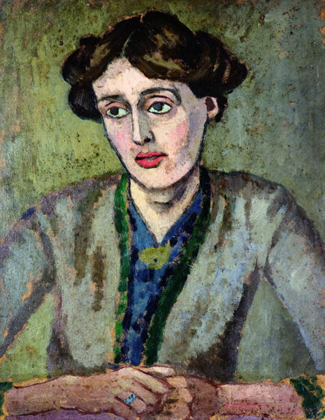 Virginia Woolf by Roger Fry, 1917. (Wikimedia Commons)  Along with Clive Bell, the artist and critic Roger Fry's aesthetic ideas influenced Woolf's works.