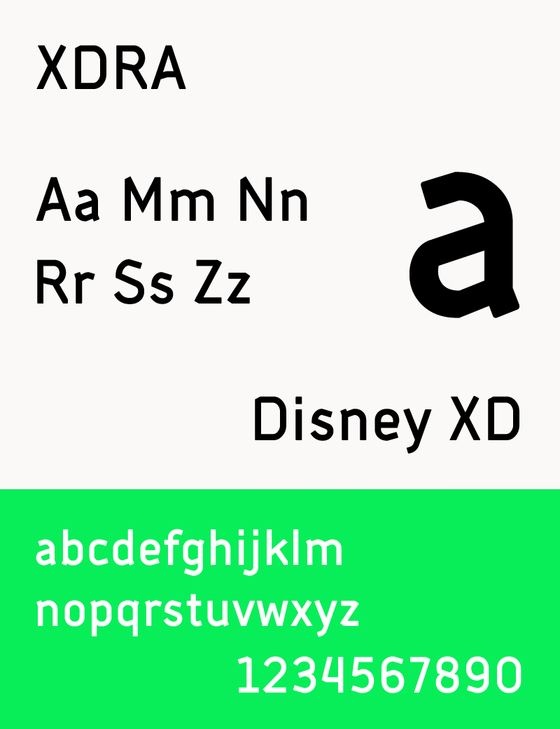 The Typeface XDRA That Was Created For Disney XD In 2014
