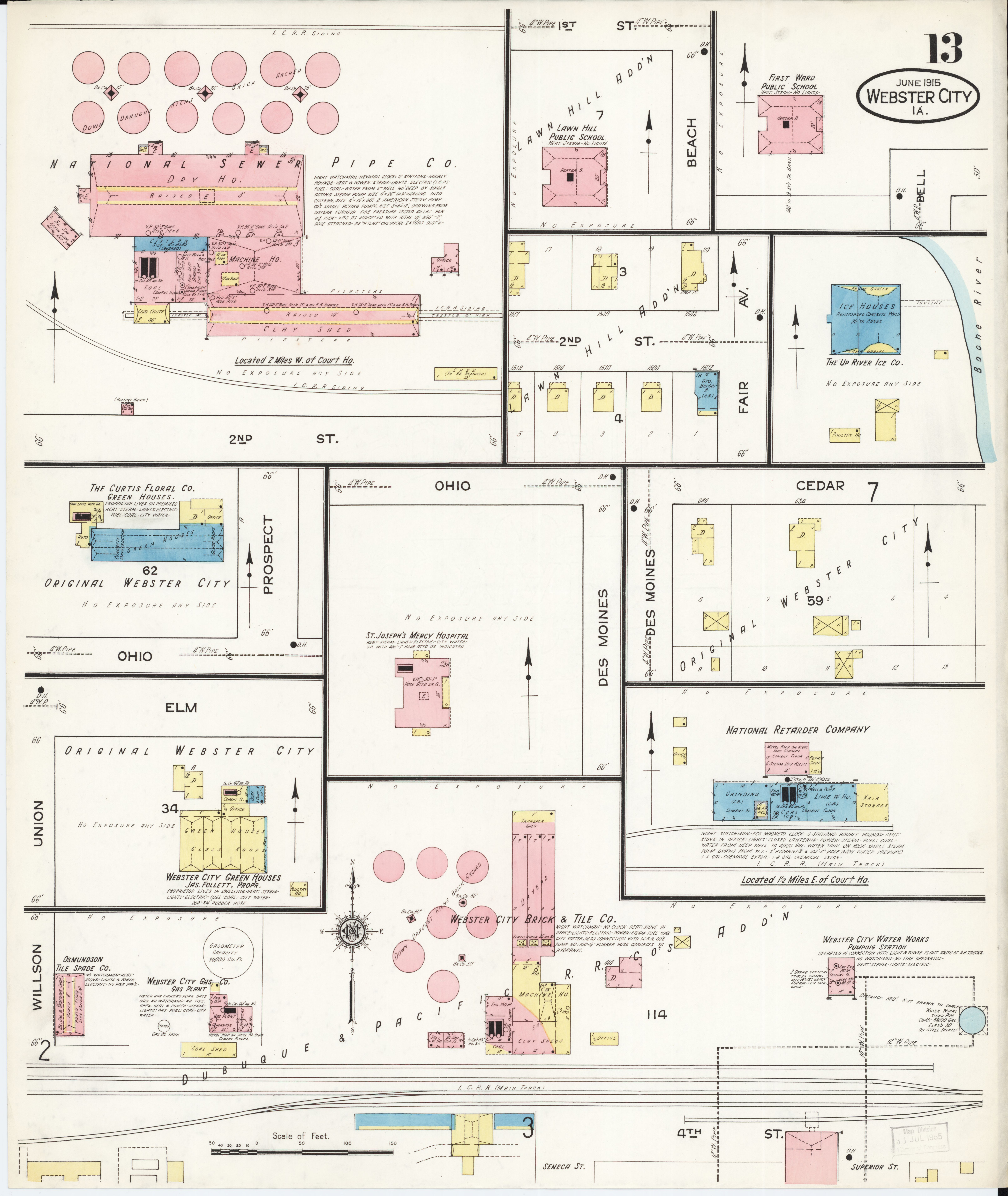 File Sanborn Fire Insurance Map from Webster City Hamilton County