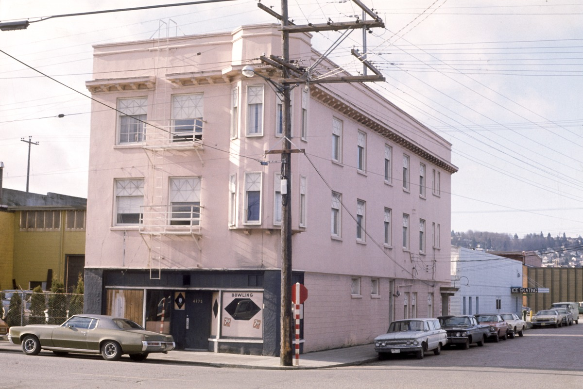 file:seattle - bowling alley on ballard avenue, circa 1975