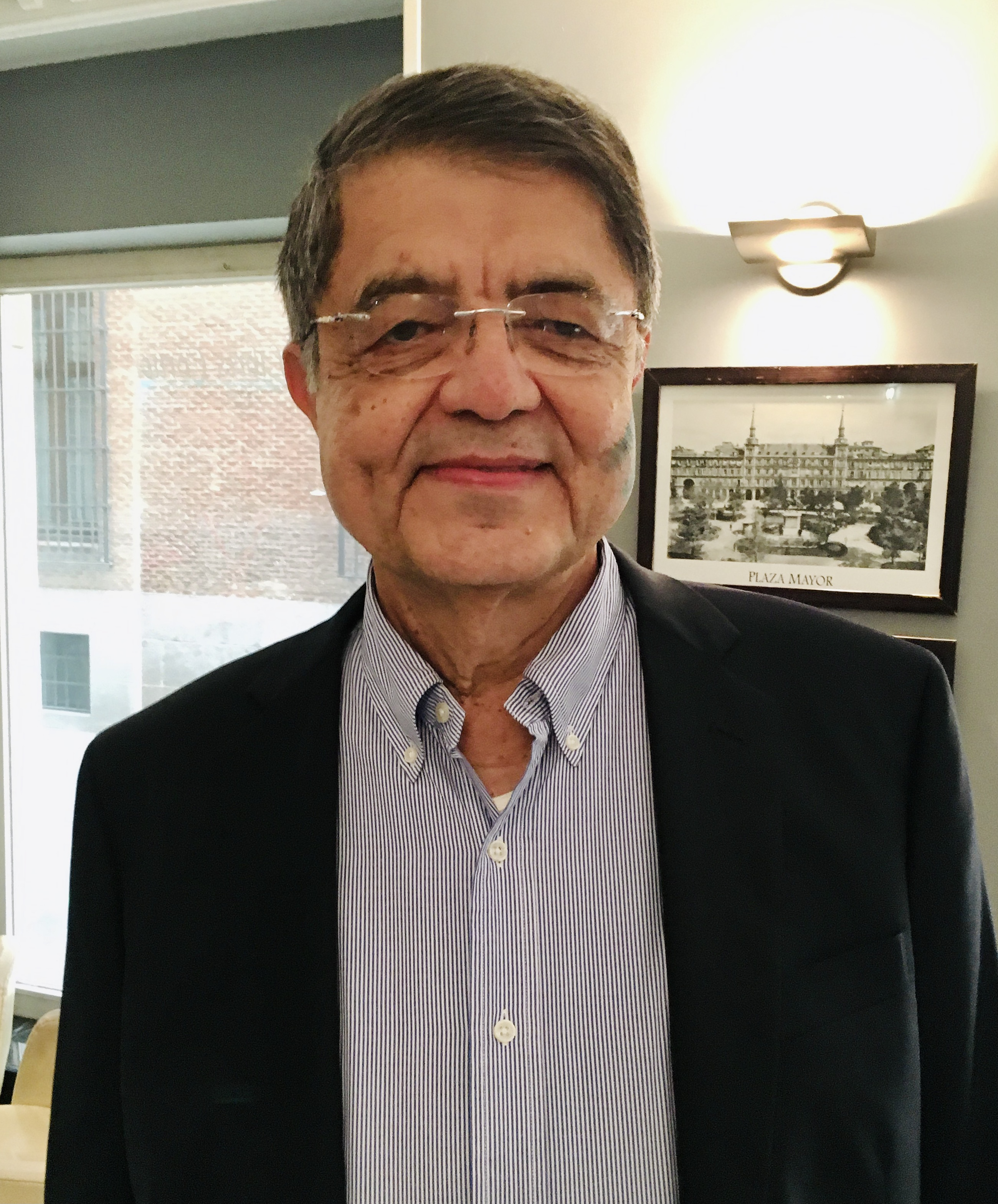 Sergio Ramírez in Madrid to receive the Cervantes Prize (2018)