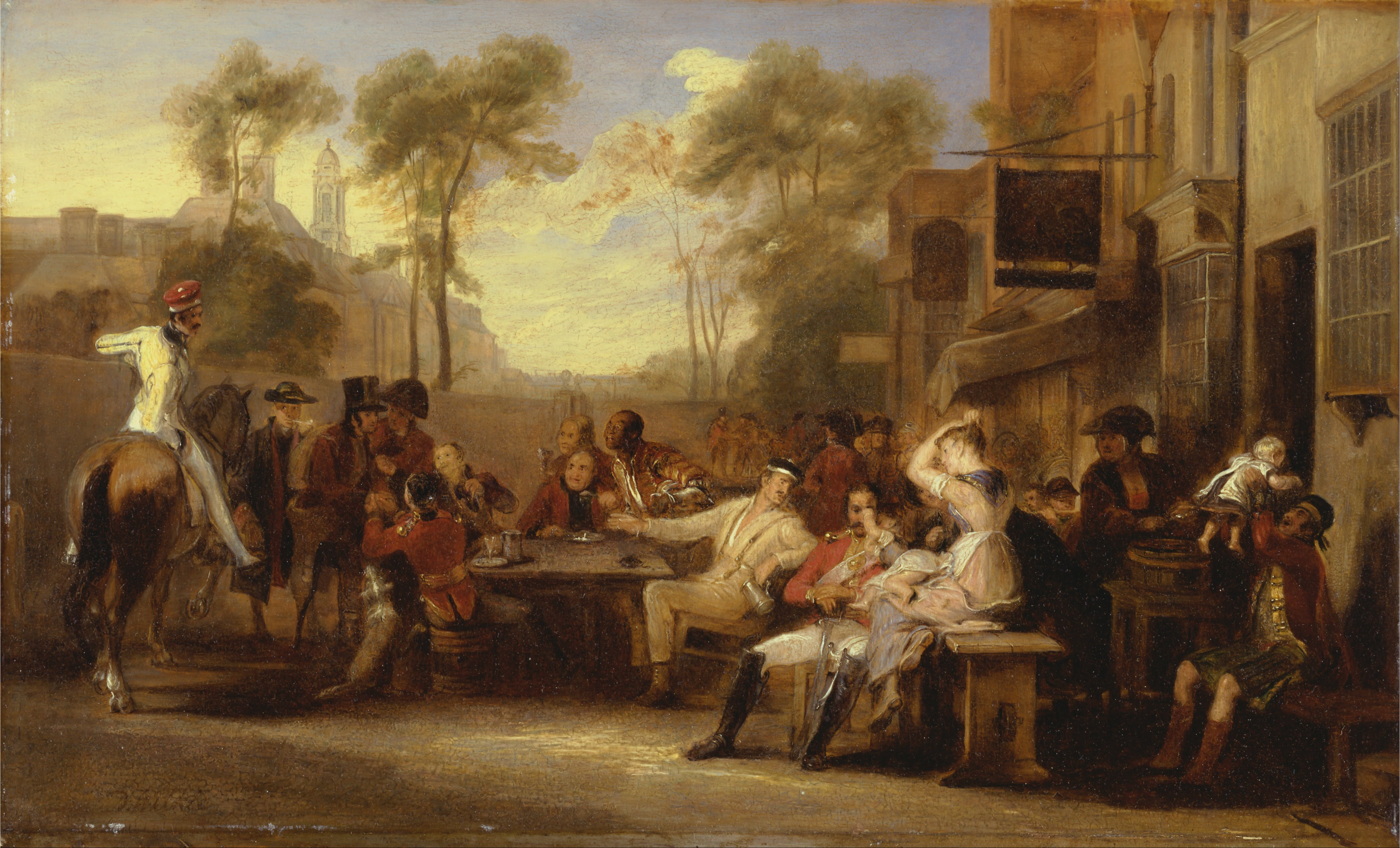 Battle Of Waterloo Painting For Sale
