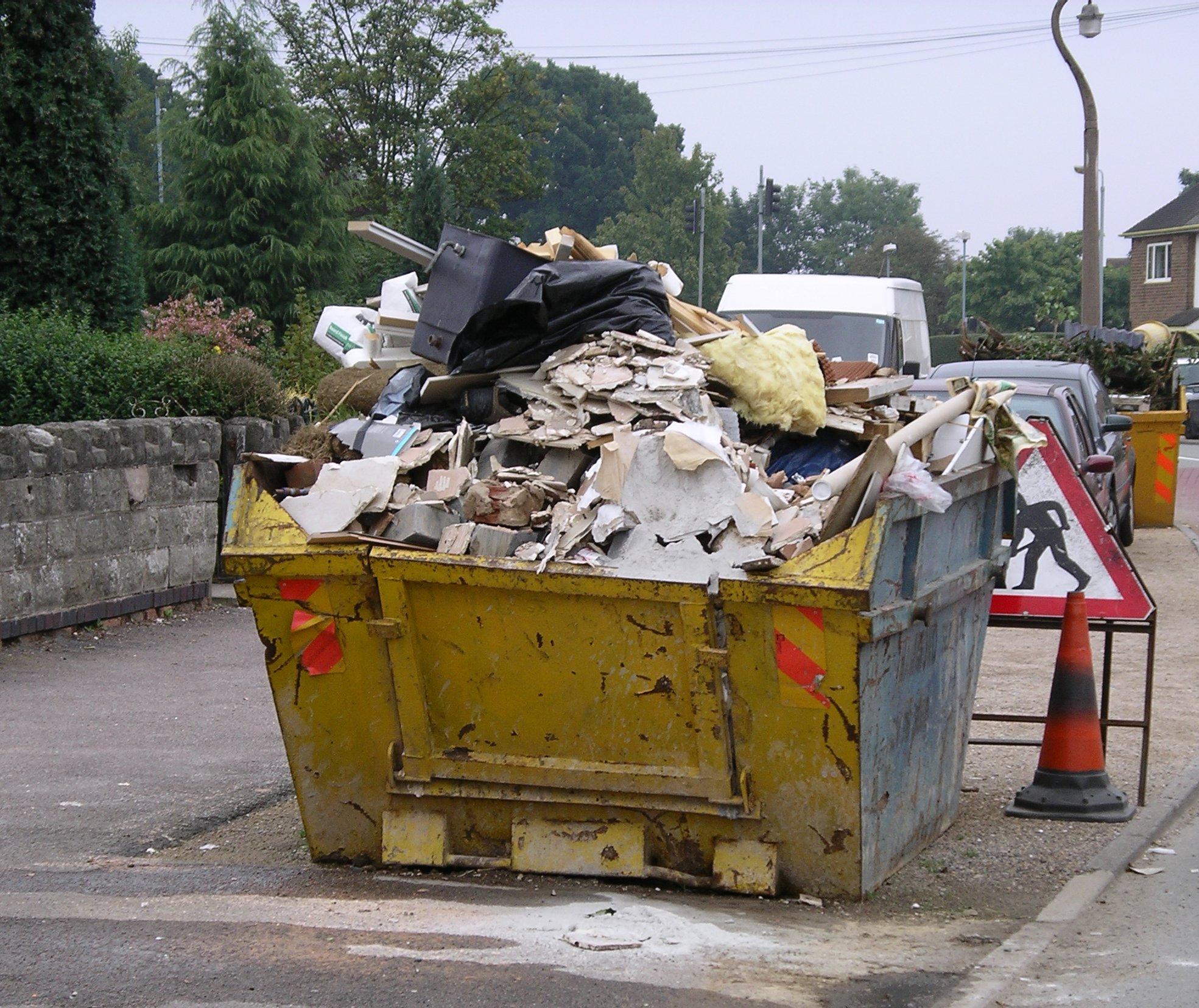 File Skip Containing Rubbish 16s06 Jpg Wikimedia Commons