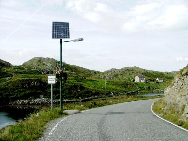 File:Solar powered light at Cromor - geograph.org.uk - 926981.jpg