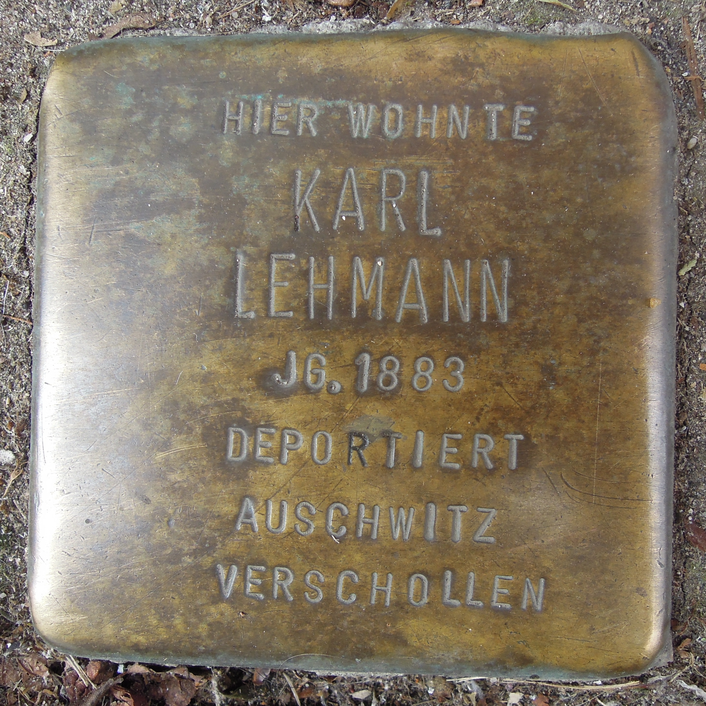 Datei:Stolperstein Neustadt an der Weinstraße Hetzelstraße 15 Karl Lehmann.jpg