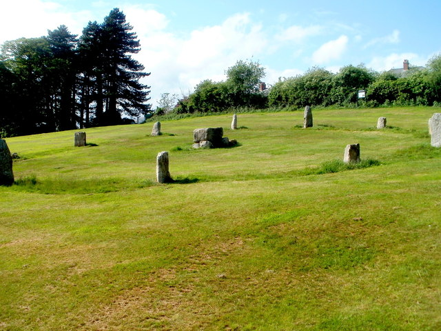 Stone circle, Pontypool Park, Pontypool - geograph.org.uk - 3415107