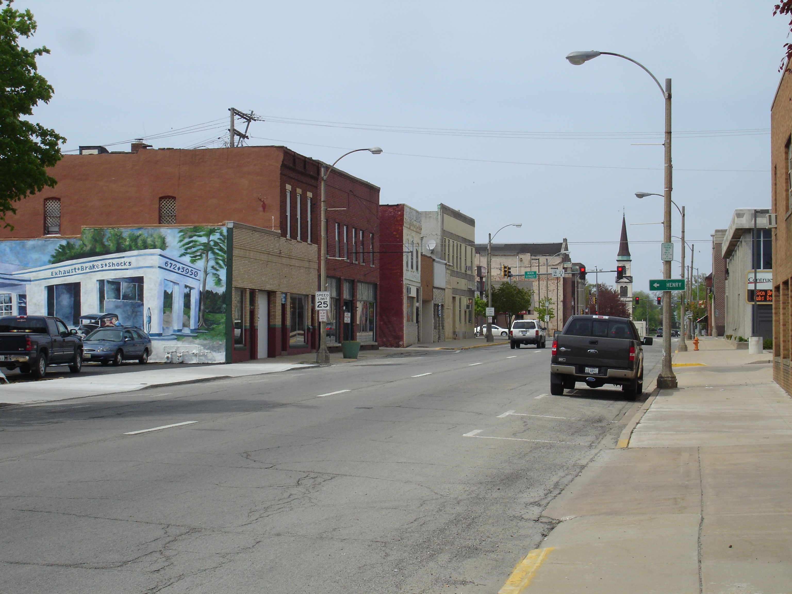 Buildings in downtown Streator