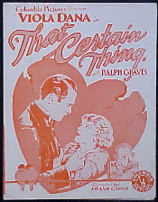 Columbia's That Certain Thing (1928) was made for less than $20,000 (about $297,791 today). Soon, director Frank Capra's association with Columbia helped vault the studio toward Hollywood's major leagues.[2]
