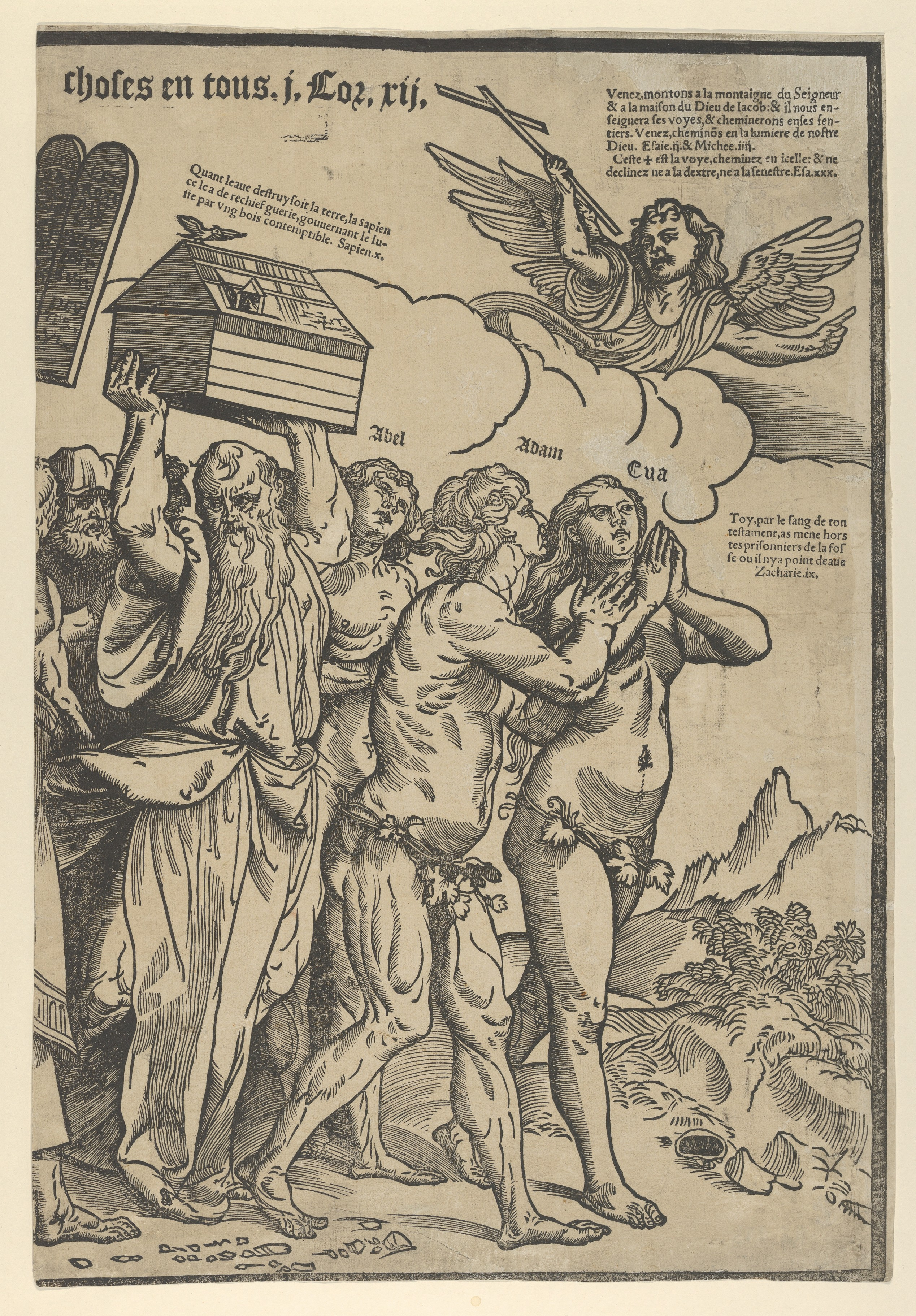 File The Triumph Of Christ The Last Sheet On The Right Showing Adam And Eve Who Lead The Procession Met Dp853457 Jpg Wikimedia Commons